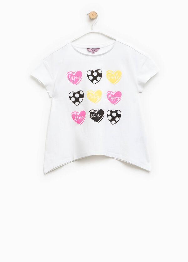 Camiseta estampada con bajo asimétrico   OVS