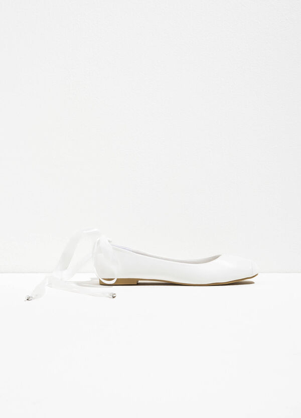 Ballerina flats with laces | OVS