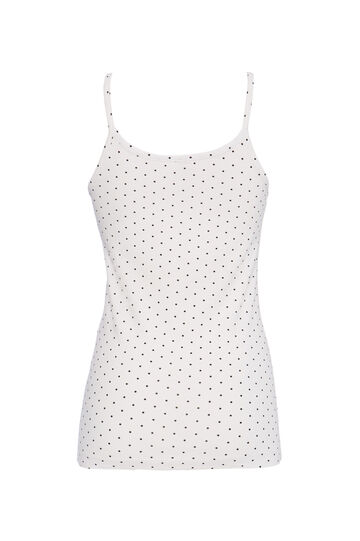 Printed jersey top, White, hi-res