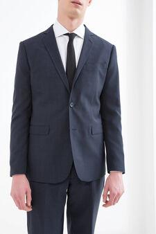 Elegant suit with regular fit, Dark Blue, hi-res