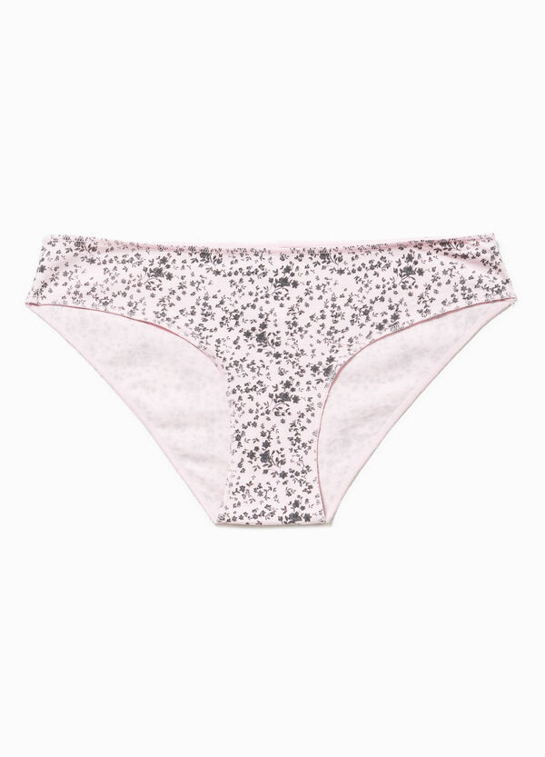 Stretch  cotton briefs with all-over print | OVS