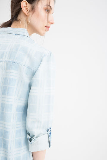 Printed shirt in 100% cotton, Denim Blue, hi-res