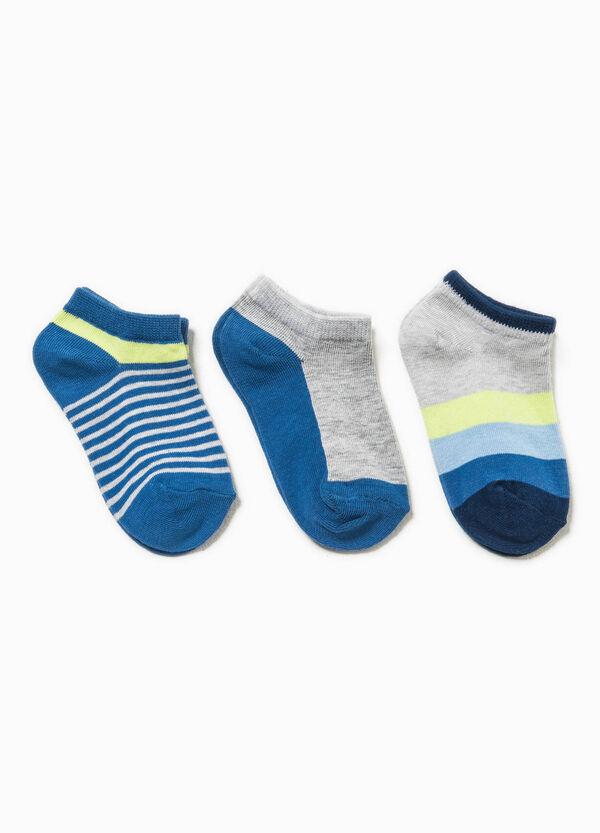 Set tre paia di calze bicolore e righe | OVS