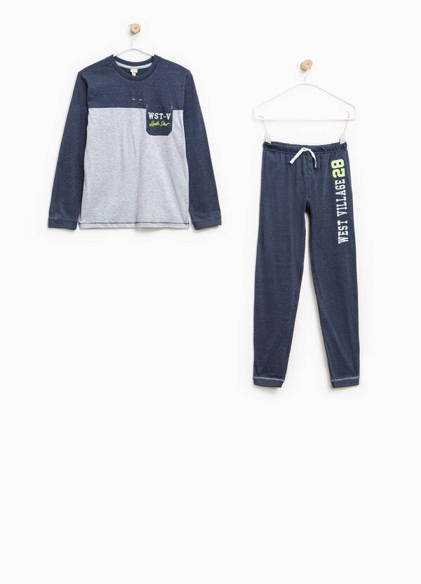 Two-tone pyjamas with small pocket | OVS