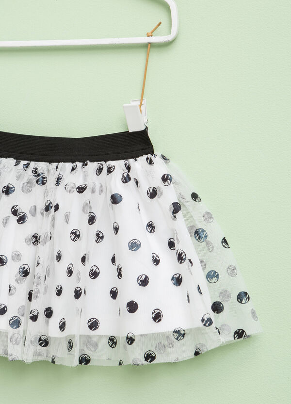 Tulle skirt with polka dot pattern | OVS