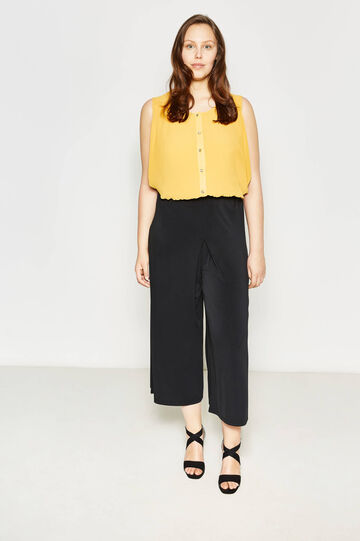 Curvy stretch gaucho trousers