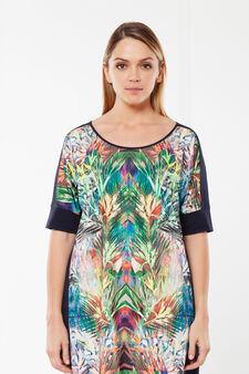 Short sleeve Curvy T-shirt, Multicolour, hi-res