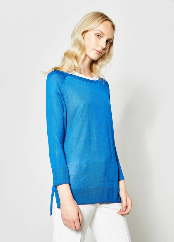 Pullover with contrasting colour edging | OVS