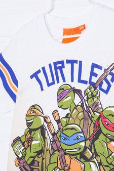 Teenage Mutant Ninja Turtle print T-shirt in 100% cotton, Grey Marl, hi-res
