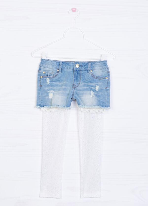 Shorts di jeans stretch sfilacciati | OVS