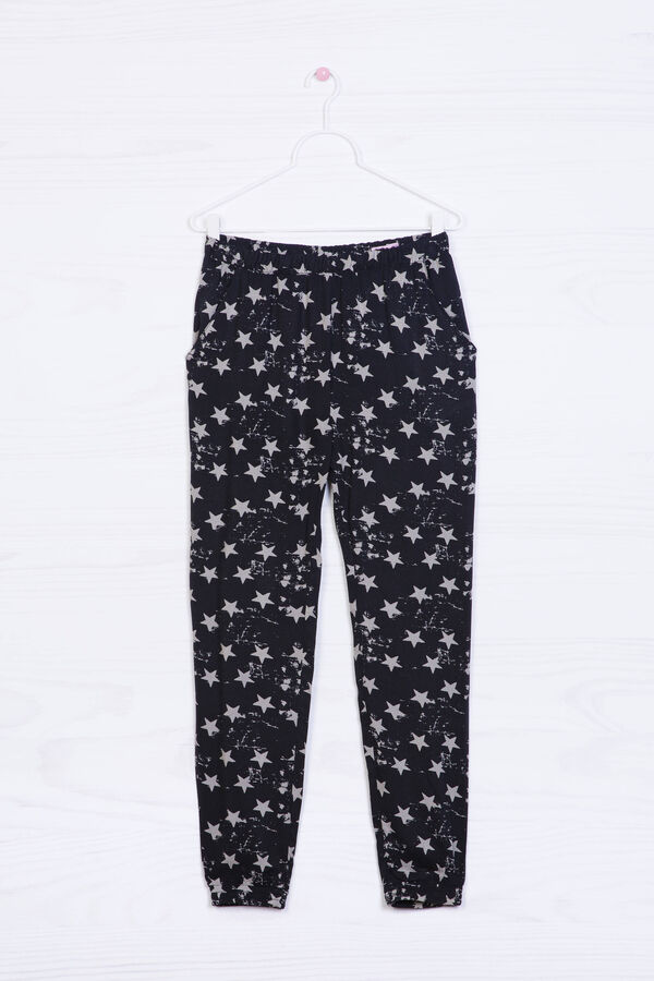 Printed trousers in 100% viscose | OVS