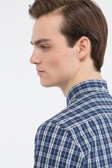 Camicia cotone tartan, Bianco/Blu, hi-res