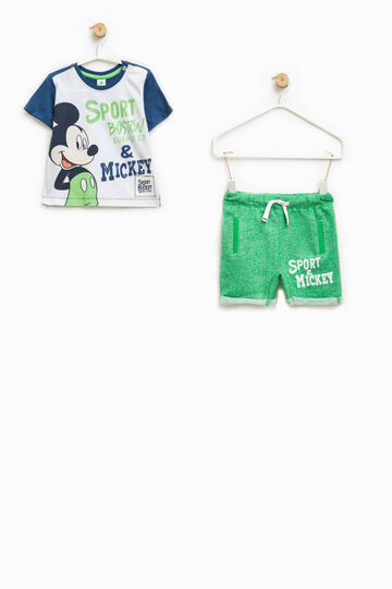 Completo t-shirt e pantaloncini Mickey Mouse