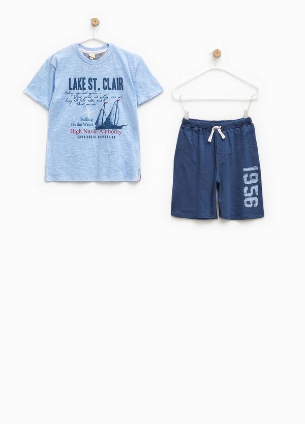 Short-sleeved top and Bermuda shorts pyjama set | OVS