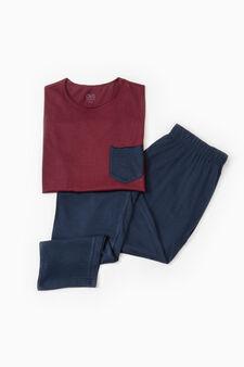 Short-sleeved cotton pyjamas, Claret Red, hi-res