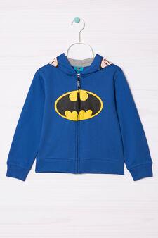 100% cotton sweatshirt with Batman print, Blue/Grey, hi-res