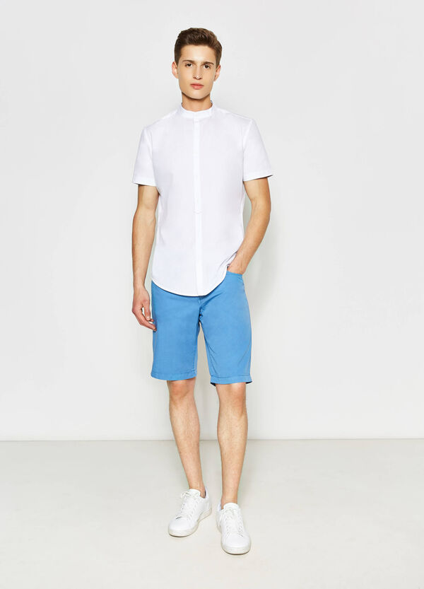 Regular-fit Bermuda shorts in 100% cotton | OVS