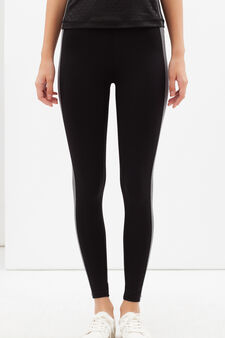 Stretch sports leggings, Black/Grey, hi-res