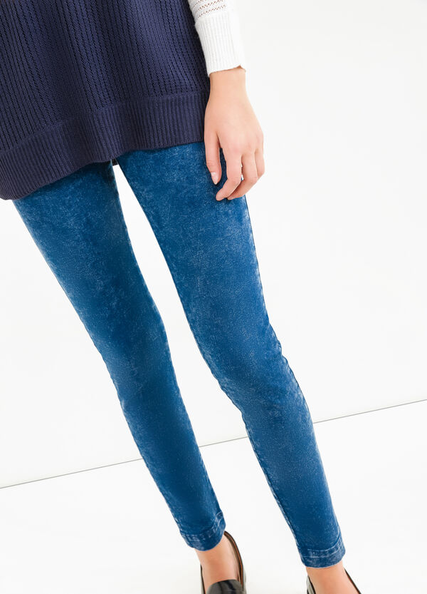 Jeggings skinny fit effetto maltinto | OVS