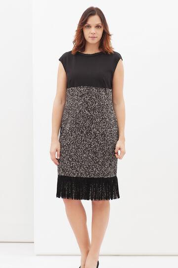 Curvyglam stretch dress with fringe