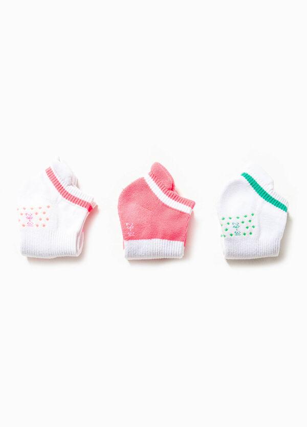 Set tre paia di calze in cotone stretch | OVS