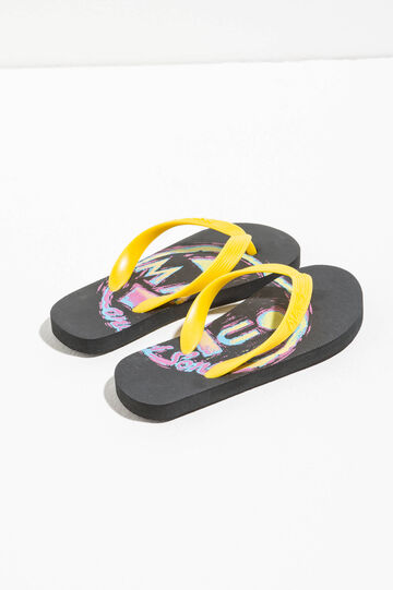 Printed thong sandals by Maui and Sons, Black, hi-res