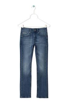 Jeans slim fit delavé, Blu chiaro, hi-res