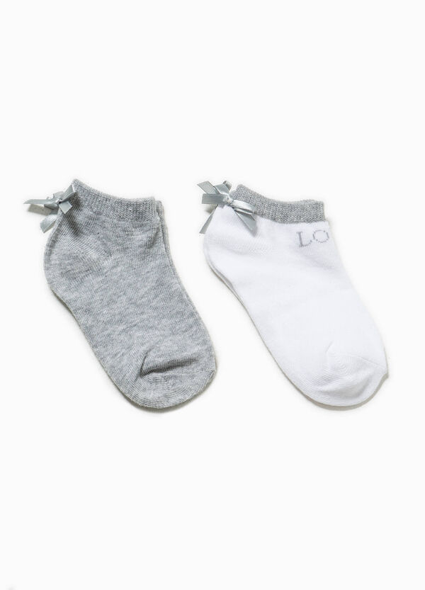 Two-pair pack socks with bow | OVS
