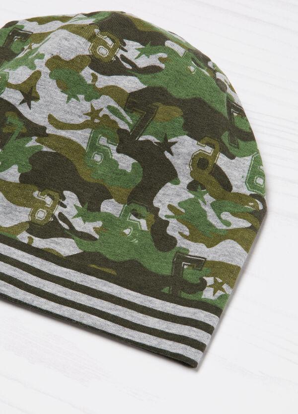 Striped camouflage beanie cap | OVS
