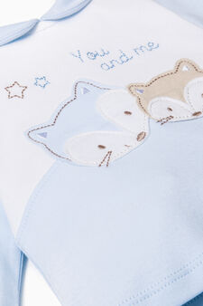 Cotton outfit with embroidery, Light Blue, hi-res