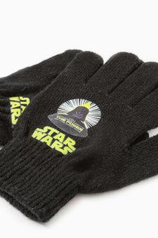 Gloves with Star Wars print, Black, hi-res