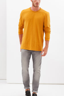 G&H solid colour long-sleeved T-shirt, Mustard Yellow, hi-res