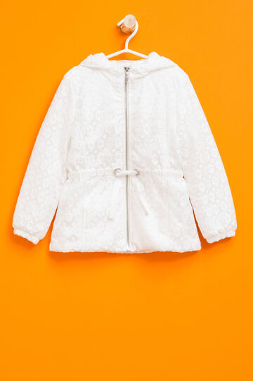 Lined jacket in lace, Cream White, hi-res