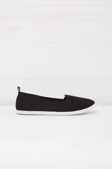 Plain slip-ons., Black, hi-res