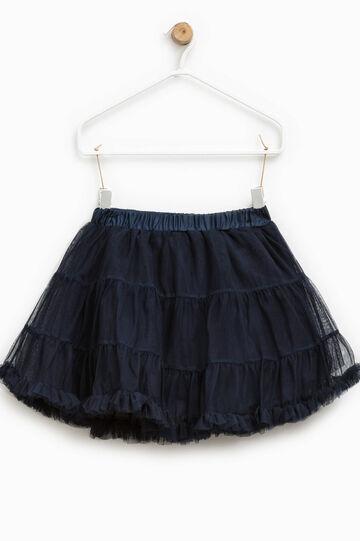 Tulle skirt with peplum hem
