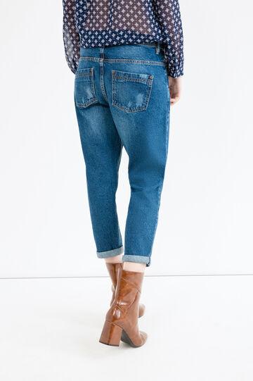 Ripped boyfriend jeans, Medium Wash, hi-res