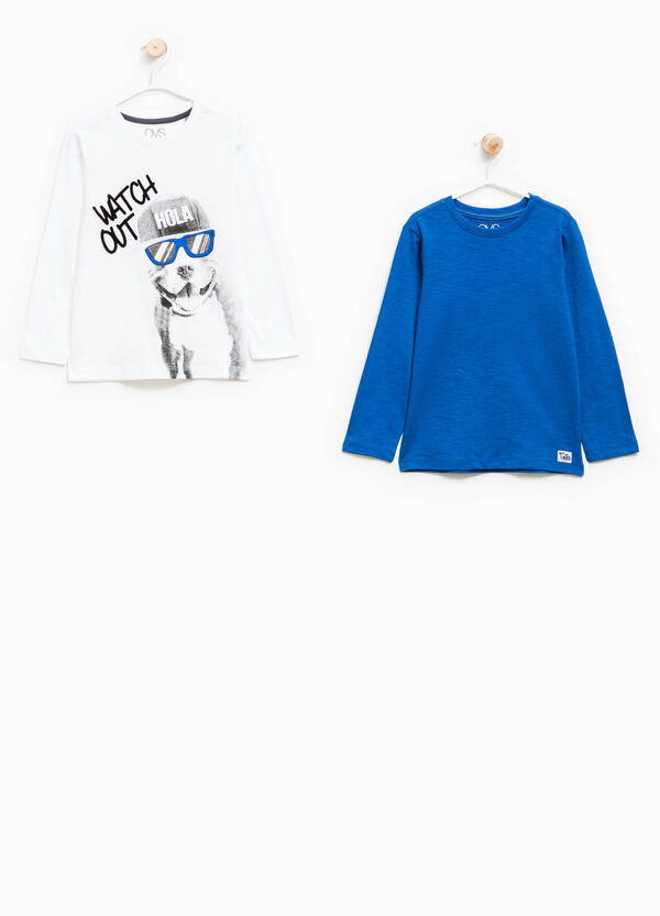 Set due t-shirt mini patch e stampa | OVS