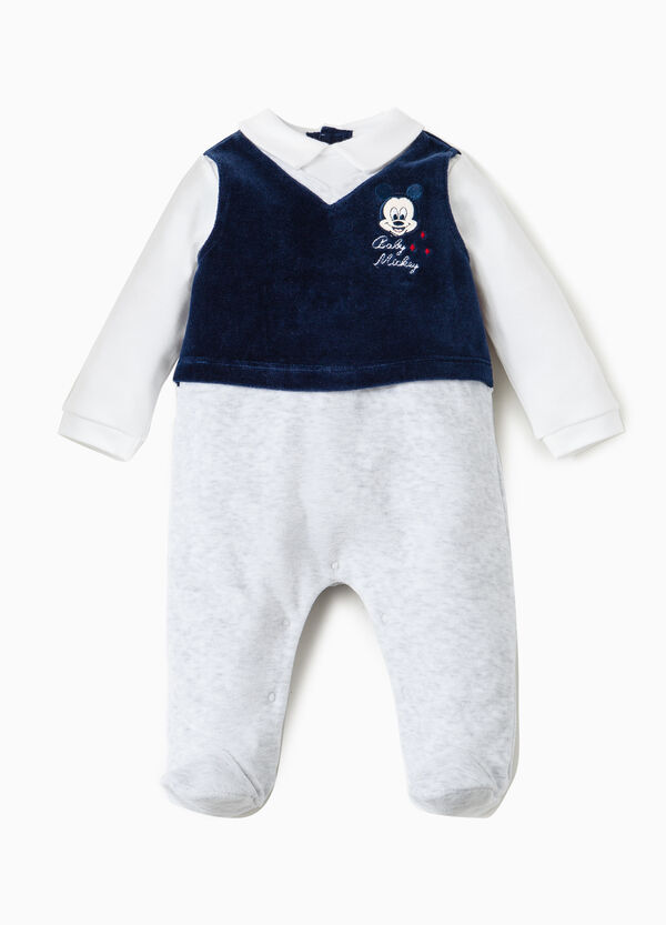 Baby Mickey Mouse embroidered onesie | OVS