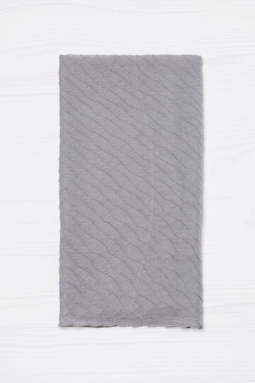 Solid colour pleated scarf, Light Grey, hi-res