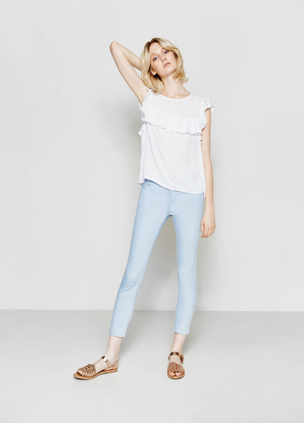 Pantalón skinny fit en algodón elástico | OVS
