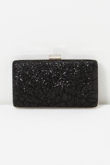 Glitter clutch, Black, hi-res