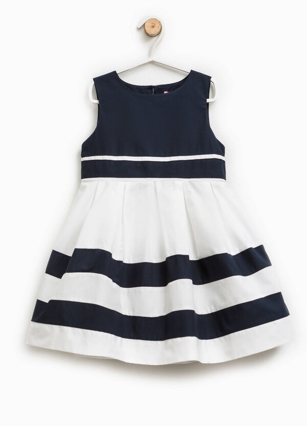 Sleeveless dress with striped skirt | OVS