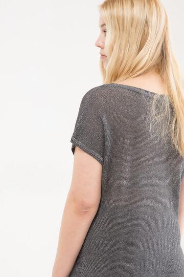 Curvy long viscose pullover, Grey, hi-res