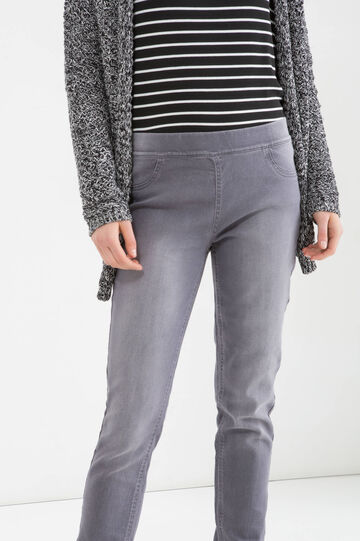 Stretch cotton blend jeggings, Grey, hi-res
