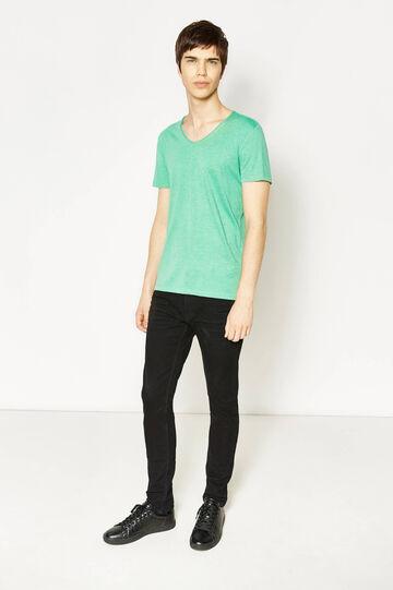 T-shirt con scollo a V, Verde latte e menta, hi-res