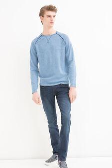 100% cotton crew-neck pullover., Soft Blue, hi-res