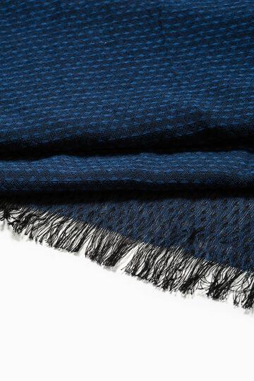 Bufanda en jacquard con rombos pequeños, Azul marino, hi-res