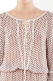 Long dress with lacing at front, Light Pink, hi-res