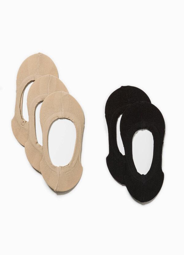 Set cinque paia di calze salvapiedi | OVS