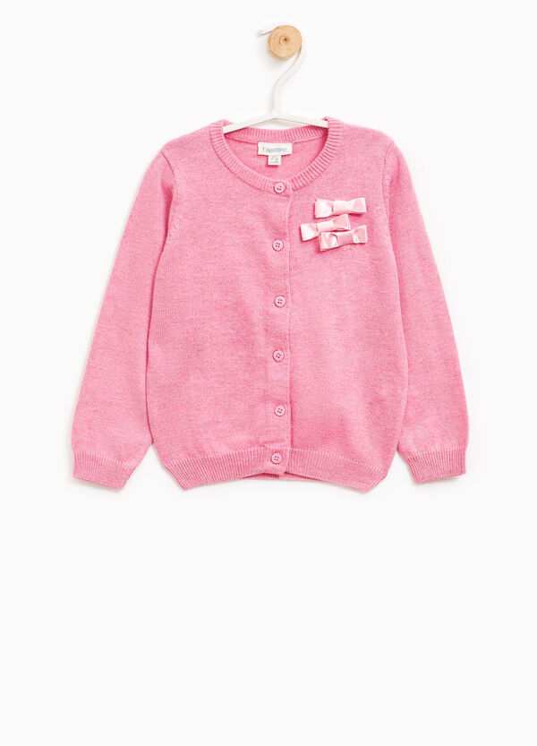 Cotton cardigan with bows | OVS